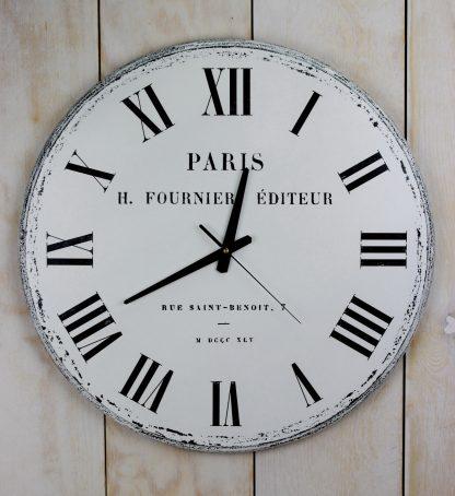 duży zegar ścienny biały